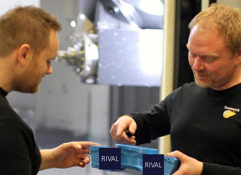 3D prints are valuable internally in RIVAL's production